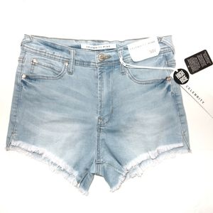 Celebrity Pink Frayed Hem Shorts